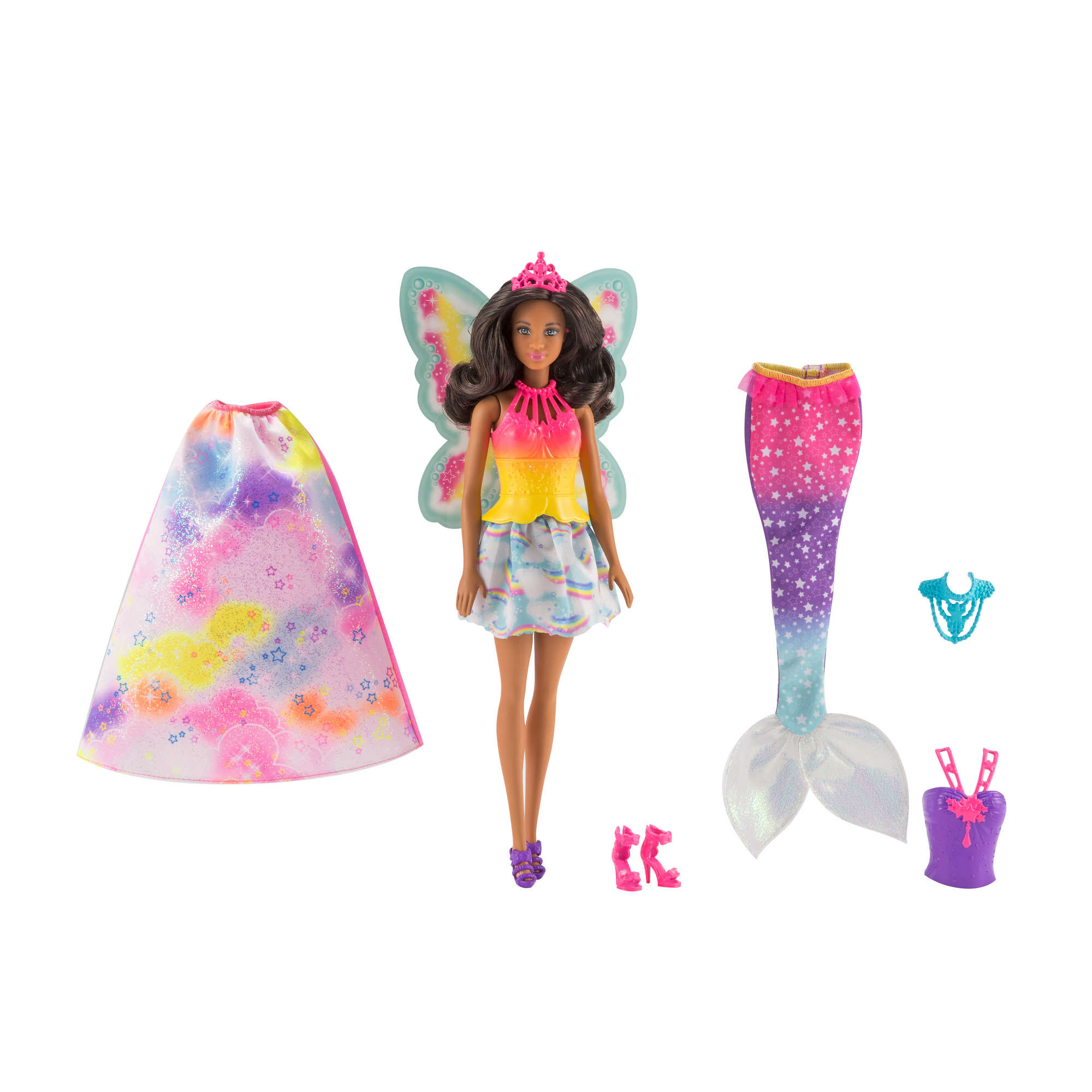 Barbie Dreamtopia Barbie Doll with 3 Fairytale Costumes