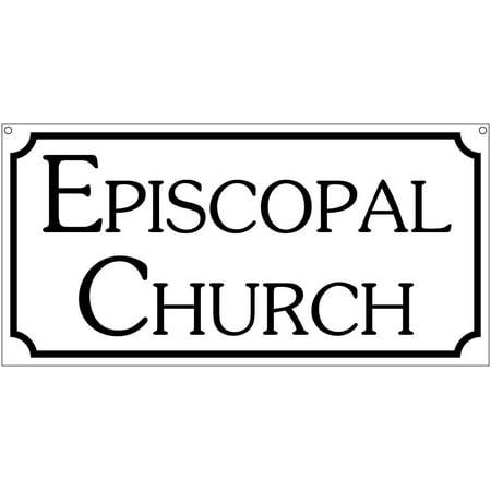 Episcopal Church sign- 6x12 Aluminum Religious church