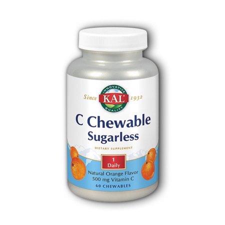 - C Chewable Sugarless Orange Kal 60 Chewable
