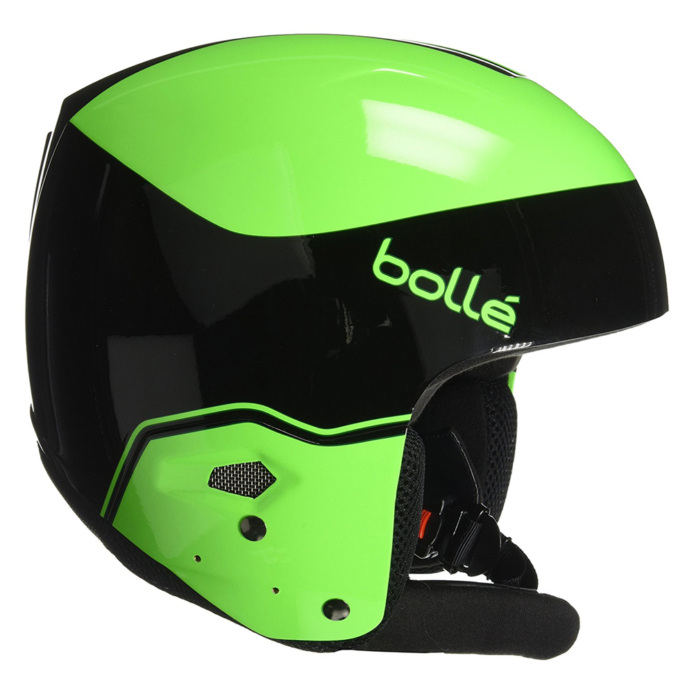 Bolle Winter Medalist Black & Flash Green 59-60cm 31396 Ski Helmet FIS Approved by Bolle