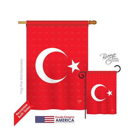 Breeze Decor 08194 Turkey 2-Sided Vertical Impression House Flag - 28 x 40 in. - image 1 of 1
