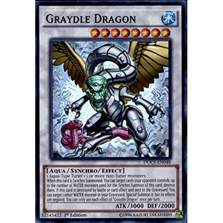 Rack Card Dimensions (- Graydle Dragon (DOCS-EN048) - Dimension of Chaos - 1st Edition - Super Rare, A single individual card from the Yu-Gi-Oh! trading and collectible card game (TCG/CCG). Ship from US)