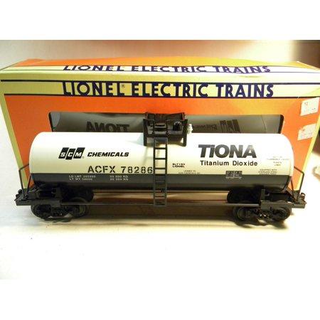 Chemical Tank Car - Lionel 17906 SCM Chemicals Standard O Unibody Tank Car O Gauge Train