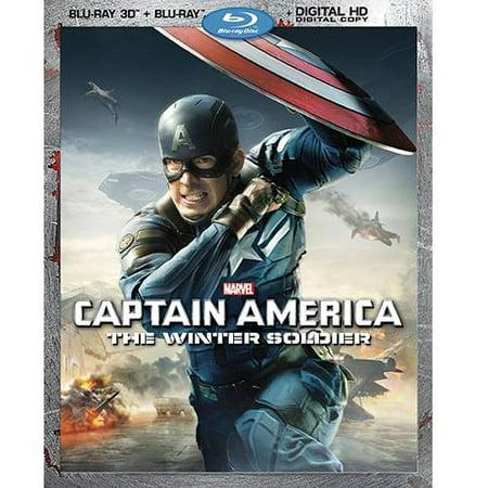 Captain America  The Winter Soldier  3D Blu Ray   Blu Ray   Digital Hd   Widescreen