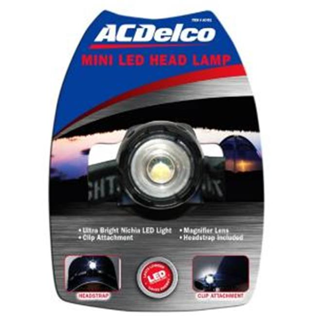 ACDelco AC451 Mini LED Head Lamp with Batteries  Black
