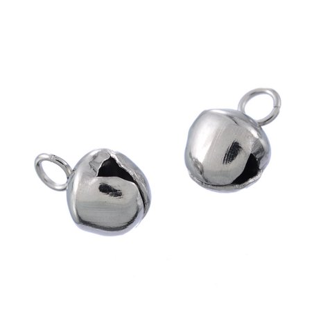 - 10pcs Stainless Steel Bell Charm Pendant Jewelry Findings Supplies 8x5.3mm