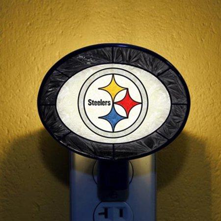 Pittsburgh Steelers Hand-Painted Glass Nightlight - No Size - Steeler Stuff