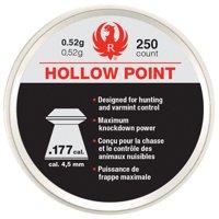 RUGER IMPACT .177 HOLLOW POINT LEAD AIRGUN PELLET 250 CT