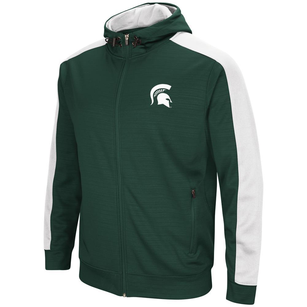 Michigan State University Performance Fleece Jacket Full Zip Hoodie by Colosseum
