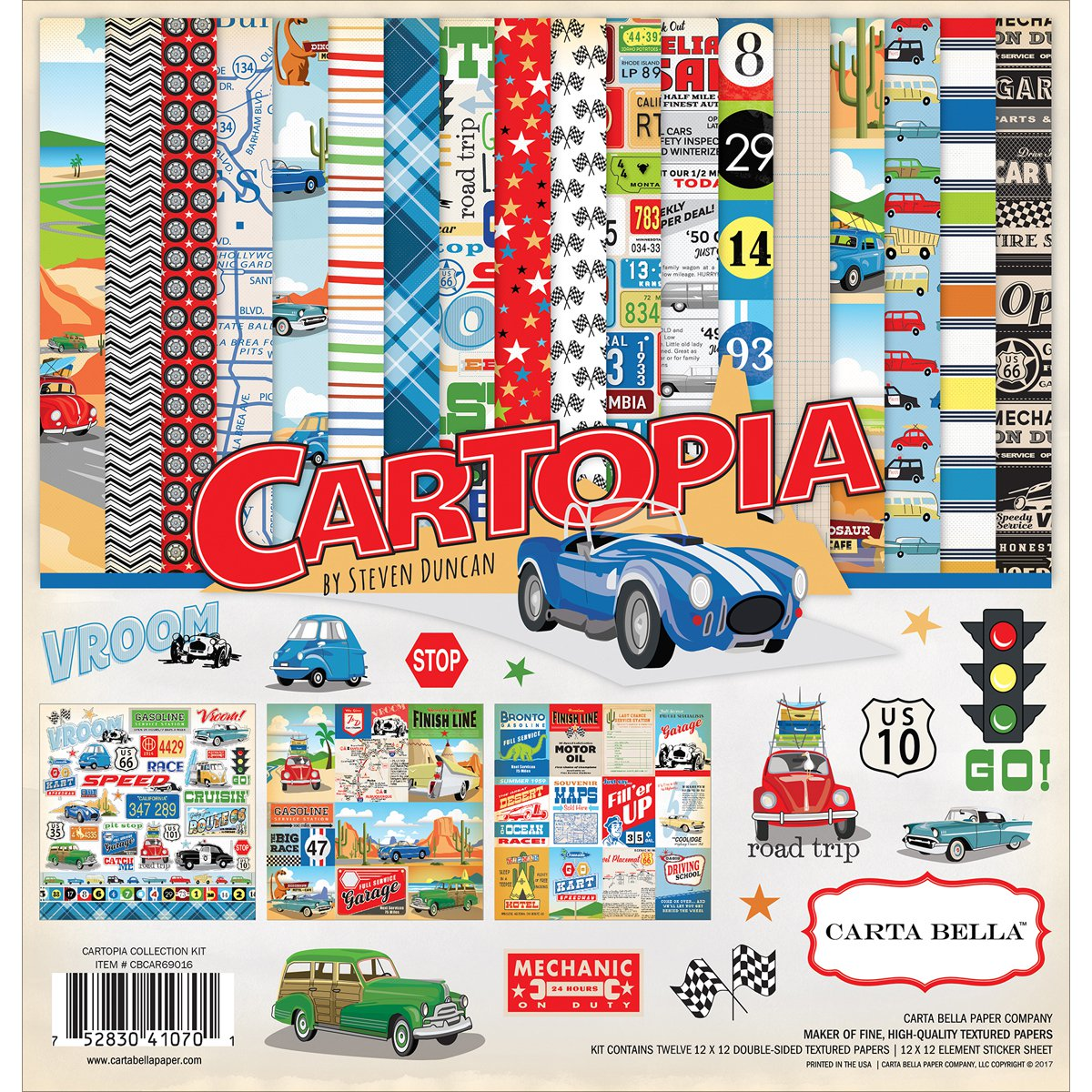 """Carta Bella Collection Kit 12""""X12""""-Cartopia - image 1 de 1"""