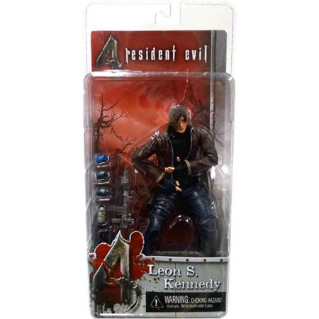 NECA Resident Evil Series 1  Leon S. Kennedy with Jacket Action Figure - Leon Kennedy Halloween