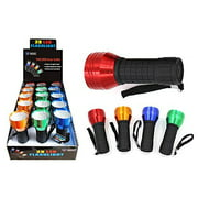 Diamond Visions Max Force 08-1513 LED with Rubber Handle Super Bright Flashlight in Assorted Colors (1 Flashlight)