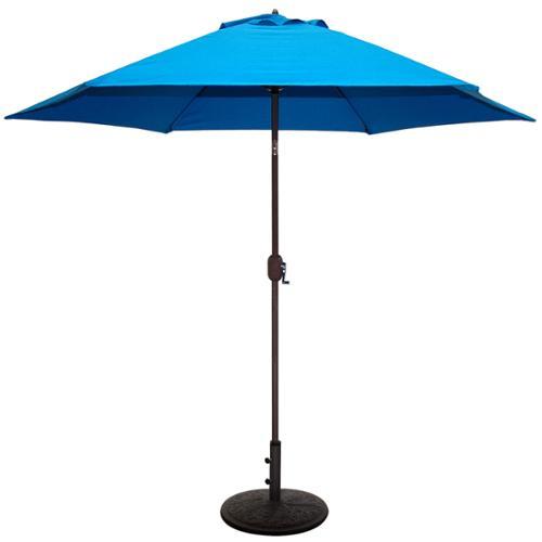 Tropishade 9 ft Aluminum Bronze Patio Umbrella with Blue