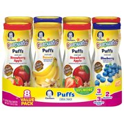 Product of Gerber Graduates Puffs Cereal Snack, Variety Pack (1.48 Oz., 8 Ct.) - Baby Food [Bulk Savings]