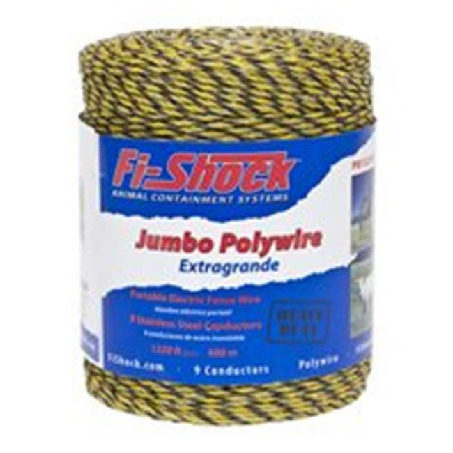 Fi-Shock PW1320Y9-FS 1320 Ft. 9 Poly Wire, Yellow