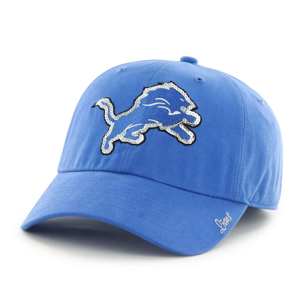 Detroit Lions 47 Brand Womens Sparkle Clean Up Hat Adjustable by 47 Brand