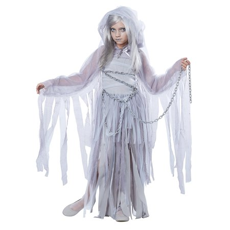 Attached Hood (Haunted Beauty Child Costume, X-Large, Item Includes: Dress, Shrug with Attached Hood, Chain By California Costumes )