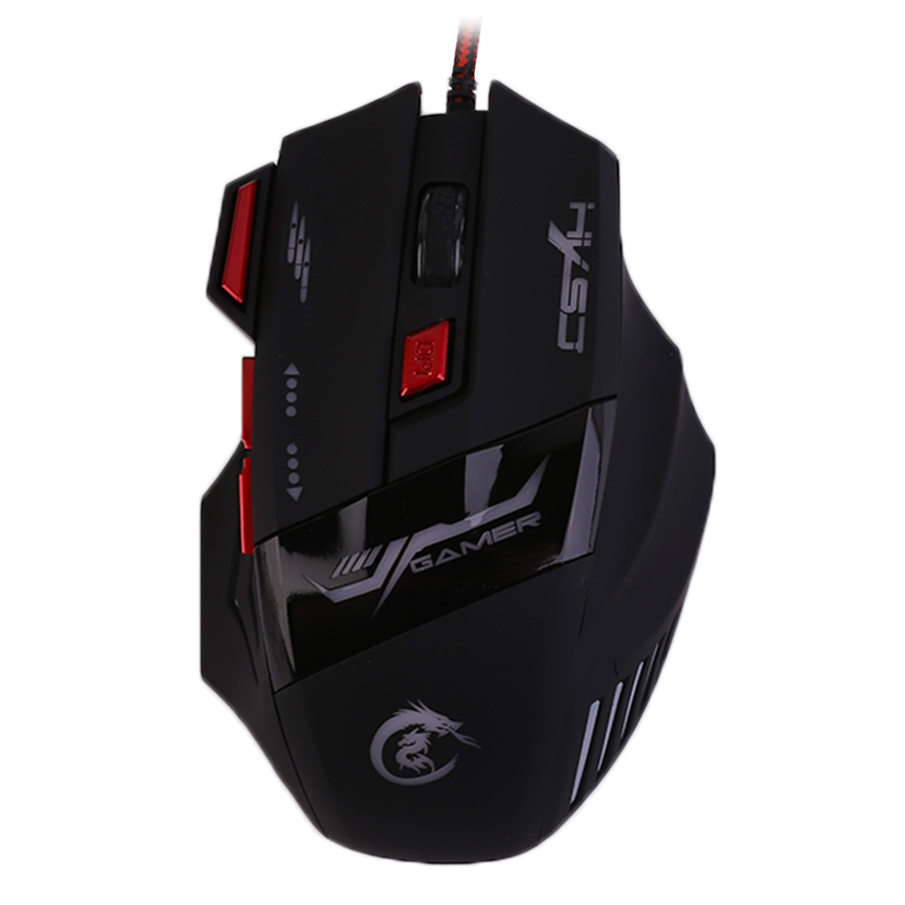 H100 Professional Gaming Devices Adjustable 5500DPI Wired Gaming Mouse 7 Buttons Luminescence Computer Mouse On Sale