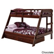 Woodcrest Woodcrest Classic Heartland Twin Over Full Youth Bunk Bed Twin over Full Chocolate Bunk Bed