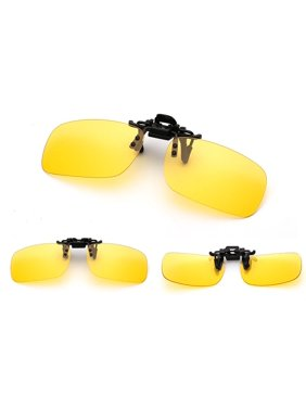 6c756b473a6d4 Product Image Polarized Glasses Day Night Vision Driving Sunglasses Clip-on  Flip-up Lens Yellow