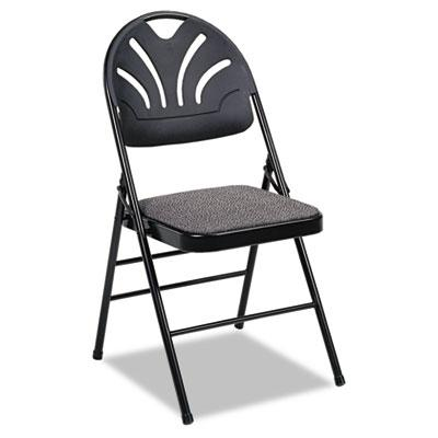 Cosco Fanfare Fabric Padded Seat & Deluxe Molded Back Folding Chair