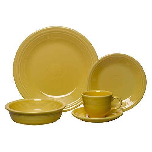5-Piece Place Setting, Sunflower By Fiesta Ship from US by