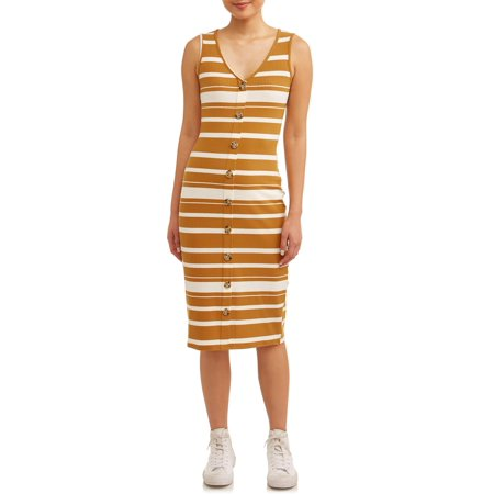 Say What? Juniors' Stripe Knit Button Front Midi