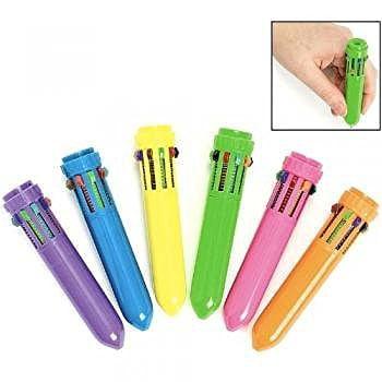 Plastic Neon Mini Shuttle Pens (1 dz) (Fun Pens)
