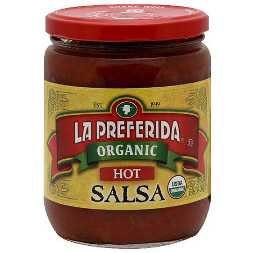 La Preferida Hot Organic Salsa, 16 oz, (Pack of 12)