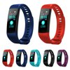Fitness Tracker, Y5 Fitness Watch Activity Tracker With Heart Rate Monitor & Sleep Monitor , Pedometer Watch for Kids Women and Men, Android iOS A healthier life choice: Silverzone Fitness Tracker:【LED Color Screen】 -- This activity tracker with 0.96in large LED screen showdata, you can clearly see the screen in the dazzling sunlight or in the dark.【Different Themes of Style】 Specially renowned designers team, for differentgroups of style needs, elaborate different theme style, minimalist, sports,business, fashion... Will also have more style in the future firmware upgrade.【Wider Compatibility】 -- Download APP 'JYOU',sport smart watches workcollaboratively with iOS 8.0 & Android 5.1 above & Bluetooth 4.0 above,such asiPhone7/7 plus 8/8plus iphone X, Samsung Galaxy S6 edge+/S7/S7Edge/S8/S8+.(Windows devices are also not supported.)【Multiple Function】 -- Fitness tracker will track your steps, activities record,heart rate blood pressure and calories. And many other functions, such as HeartRate monitor, Blood Monitor & Sleep Monitor Sedentary Reminder, Date/TimeDisplay, Clock Alarm, Sleeping Monitor,Sports Mode,Ip67 waterproof,Camera Remoteand ect.【Easy to charge with Built-in USB plug】with any USB block and computer.Nocharging cable and dock needed.Basic Specification:Compatibility:Android (above 5.1) and iPhone (above iOS 8.0)Data Sync:Bluetooth 4.0Device Weight:About 23gScreen Size:0.96 inchBattery Type:Lithium PolymerBattery Capacity:90mAHChagring Time:About 1-2 hours full chargeCharging Port:USB chargingWorking Time:5 days (with Monitoring ON), 8 days (with Monitoring OFF)Waterproof::IP67 Life-waterproof,sweat-proof,rain-proof(We suggest user to takeoff the tracker before shower and swimming)Key Features:-0.96 inch Large Screen-Heart Rate Monitor-Sleep Quality Monitor-Anti-lost-Sedentary alert-IP67 Life-level waterproof and dustproof-USB Plug and Charge,7-15 Day StandbyPackage Include:1 xSilverzone Fitness Tracker1 x User Manual
