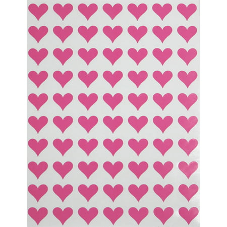 Hearts Stickers Pink 0.5 inch (13mm) 1/2