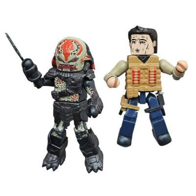Minimates - Predator Series - Royce & Berserker Predator (Predator Hot Toys Berserker)