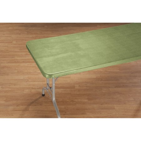 Illusion Weave Vinyl Elasticized Banquet Table Cover by HSK - 36