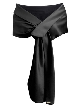 Luxury Divas Satin Evening Shawl Wrap
