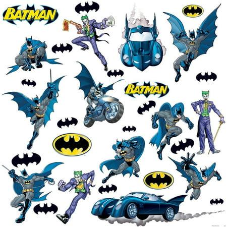 BATMAN GOTHAM Removable Vinyl Wall Decals BATMOBILE Room Decor 31 Big Stickers - Batman Car Decal