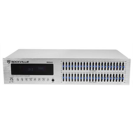 Equalizer Spectrum Analyzer - Rockville REQ42-S 2 x 21 Band Home Theater Equalizer w/ Audio Spectrum Analyzer