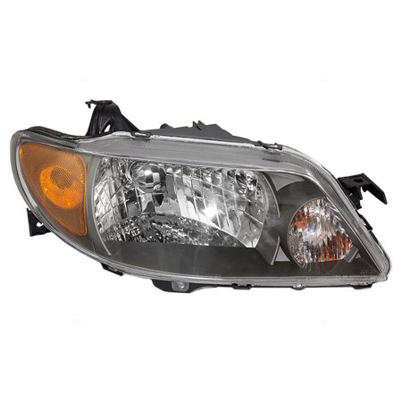 Mazda Mpv Replacement Headlight - Passengers Headlight Headlamp with Metal Coat Bezel Replacement for Mazda BL8E510K0D