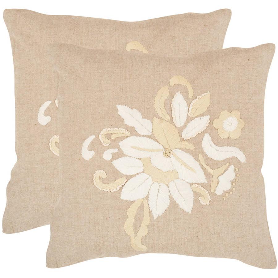Safavieh June Beige Pillow, Set of 2