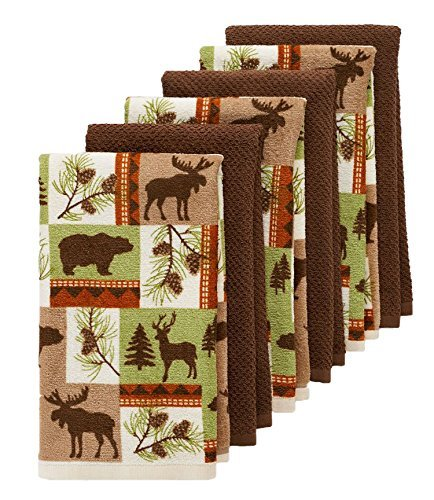 The Big One® Lodge Kitchen Towels 6 Pack