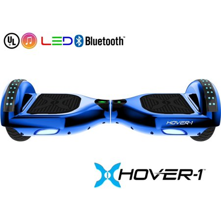 Hover-1 Matrix UL Certified Electric Hoverboard w/ 6.5 Wheels, LED Lights and Bluetooth Speaker - Blue