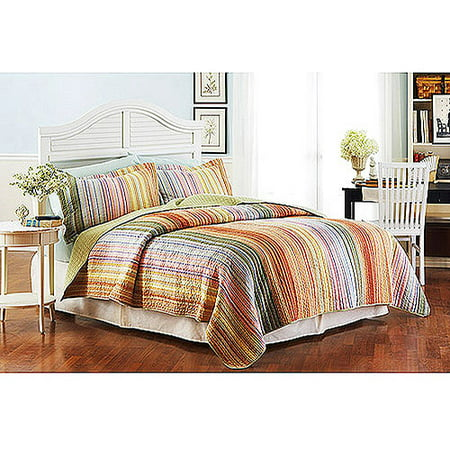 Better homes gardens bh g light stripe quilt queen Bhg g
