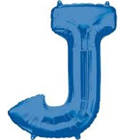 Giant Blue Letter J Foil Balloon 33