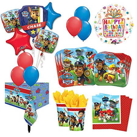 The Ultimate 8 Guest 53pc Paw Patrol Birthday Party Supplies and Balloon Deco... - Paw Patrol Decorations