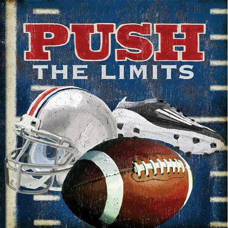 Oopsy Daisy\'s Push the Limits, Football Canvas Wall Art, Size 14x14 ...