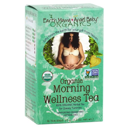 Organic Morning Wellness Tea For Occasional Morning Sickness  16 Teabags Box