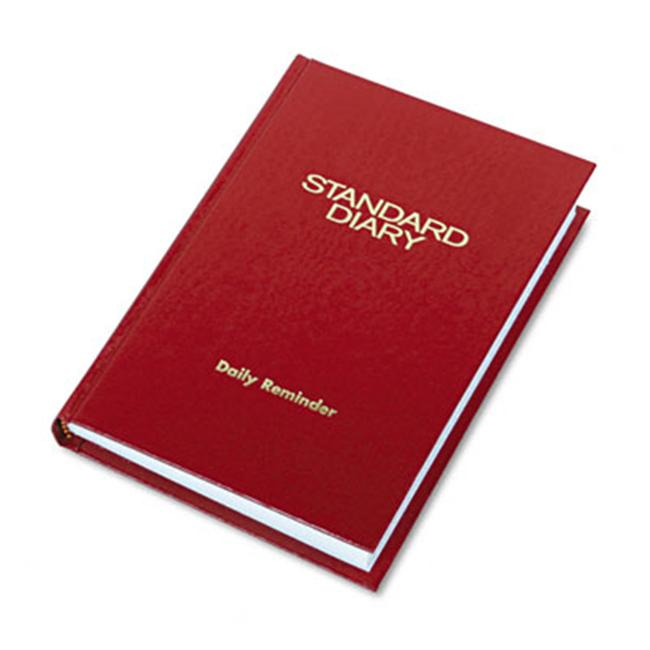 At-A-Glance SD38913 Standard Diary Brand Hardbound Daily Reminder Book  Red  5-3/4 x 8-1/4