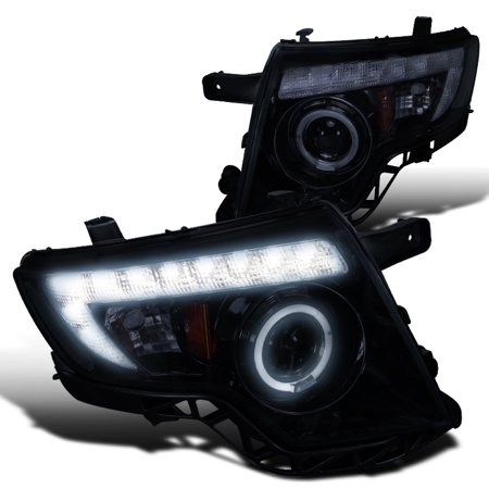 Spec-D Tuning 2007-2010 Ford Edge Projector Headlights W/ Halo Rim + Led 2007 2008 2009 2010 (Left + Right)