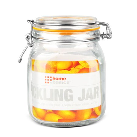 34 oz. Glass Pickling Jar with Wire Bail Lid and Rubber Seal Gasket ()