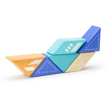 Travel Pals 6-Piece Jet Wooden Block Set by Tegu - image 4 of 10