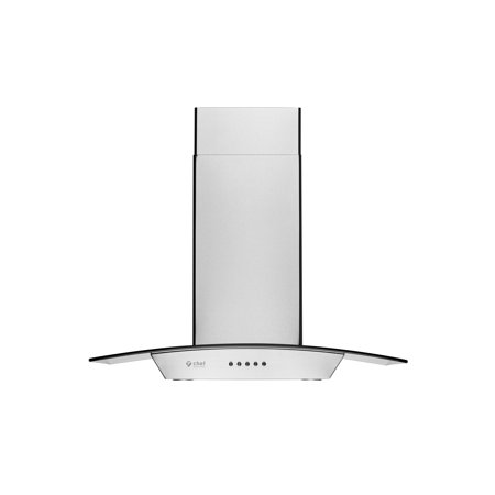 "Chef WM-538 30"" European Style Wall-Mount Range Hood w/860 CFM, Touch Screen, Baffle Filters (Dishwasher Safe), Halogen Lamps, Duct or Ductless Available"